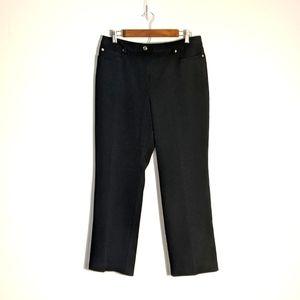 Rafaela Petites High Rise Straight Leg Black Pants